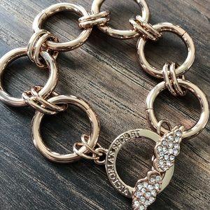 Victoria's Secret rose gold bracelet.